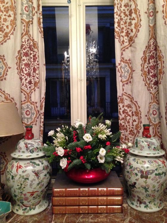 Centro de flores de parte de nuestra amiga AnaOu